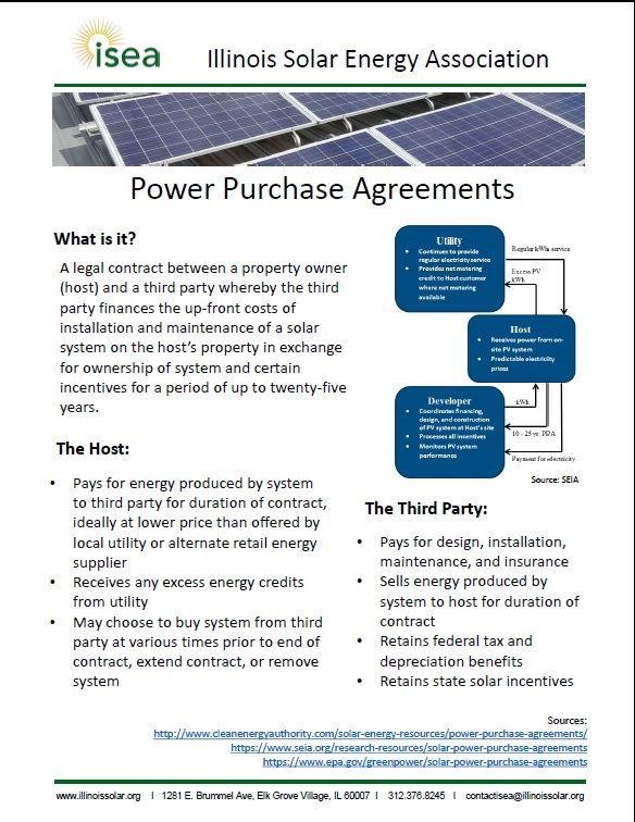 Illinois Solar Energy Association What Is A Ppa